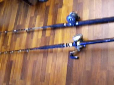2 Canne da traina con mulinello PRO EX4/01 Barca da pesca