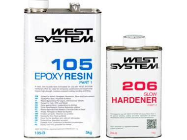 Kit Resina Epoxi West System 1.2kg Catalizador Lento Altro