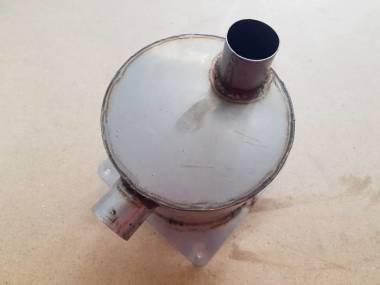 Silenciador de escape de Inox con manuera coneccion de 37 mm Motori