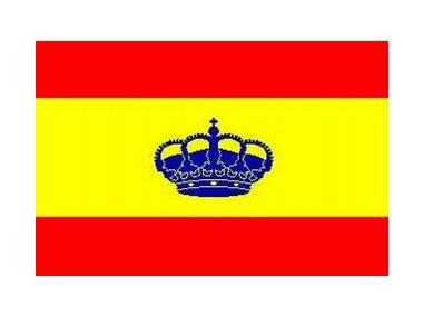 Bandera España con corona 20 x 30 cm Navigazione
