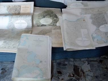 4 Mappe nautiche del mar Ligure ed isole Toscane Navigazione