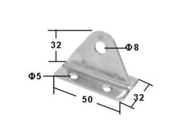 Soporte Triangular Inox Altro
