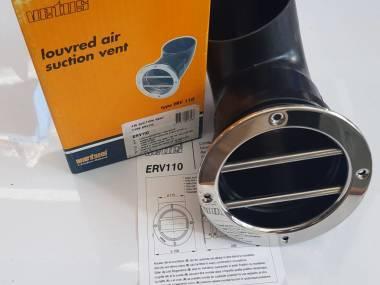 Válvula de aspiración de aire con rejilla INOX redonda diámetro 110mm. Vetus ERV 110 Comfort a bordo