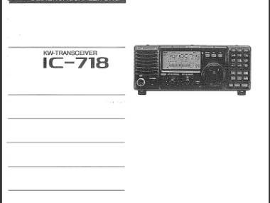 HF, Transcever, Amateurfunk ICOM 718, antenen tuner Paktor USB 2 Elettronica
