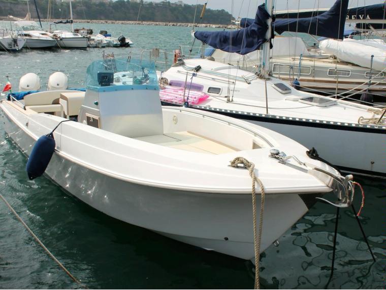 Aquasport 250 ccp fisherman in m procida barche a for Barche al largo con cabine